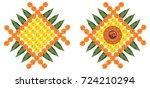vector flower rangoli for... | Shutterstock .eps vector #724210294