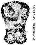 japanese tattoo design full... | Shutterstock .eps vector #724215793