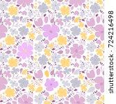 seamless floral texture. cute... | Shutterstock .eps vector #724216498