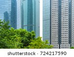 modern office building with... | Shutterstock . vector #724217590