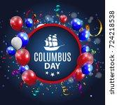 vector illustration of columbus ...   Shutterstock .eps vector #724218538