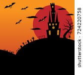 halloween vector illustration   ... | Shutterstock .eps vector #724220758