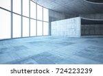 abstract  concrete interior... | Shutterstock . vector #724223239