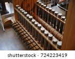 textile factory machine | Shutterstock . vector #724223419