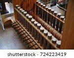 textile factory machine | Shutterstock . vector #724223419