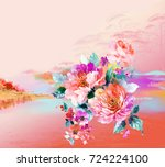 enthusiasm is bold and... | Shutterstock . vector #724224100