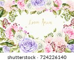 bright watercolor card with... | Shutterstock . vector #724226140