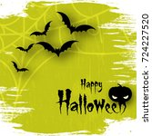 happy halloween background with ... | Shutterstock .eps vector #724227520