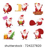 christmas characters of funny... | Shutterstock .eps vector #724227820