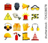 protection clothing for work... | Shutterstock .eps vector #724228078