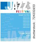 poster for the jazz festival   Shutterstock .eps vector #724232653