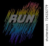 athletic sport run typography ... | Shutterstock .eps vector #724232779