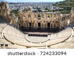 Small photo of The Theatre of Herod Atticus, one of the major sights in the Acropolis in Athens, the capital of Greece