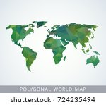 polygonal world map for... | Shutterstock .eps vector #724235494