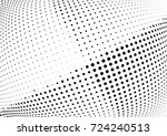 abstract halftone wave dotted... | Shutterstock .eps vector #724240513