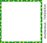 christmas frame  vector   Shutterstock .eps vector #724242514