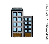 building towers isolated