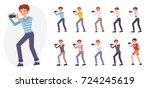 cartoon character design male...   Shutterstock .eps vector #724245619