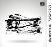black brush stroke and texture. ... | Shutterstock .eps vector #724247806