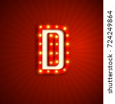 retro style letter d with... | Shutterstock .eps vector #724249864