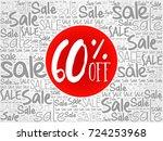 60  off sale words cloud ... | Shutterstock . vector #724253968