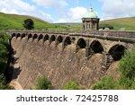 dam in wales  u.k. | Shutterstock . vector #72425788
