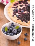 blueberry tart.  | Shutterstock . vector #724259788