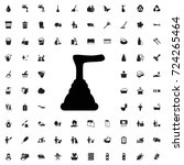 plunger icon. set of filled... | Shutterstock .eps vector #724265464