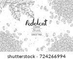 coffee product label with... | Shutterstock .eps vector #724266994