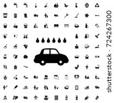 car wash icon. set of filled... | Shutterstock .eps vector #724267300