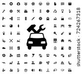 car repair icon. set of filled... | Shutterstock .eps vector #724267318