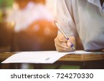 students takes the test or exam ... | Shutterstock . vector #724270330