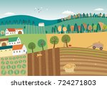 harvest time | Shutterstock .eps vector #724271803