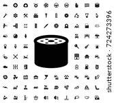 oil filter icon. set of filled... | Shutterstock .eps vector #724273396