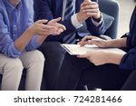 business people discussion... | Shutterstock . vector #724281466