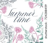 summer time card. holiday... | Shutterstock .eps vector #724288459