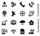 16 vector icon set   share ... | Shutterstock .eps vector #724292449