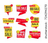 sale banner set. discount... | Shutterstock . vector #724294270