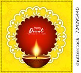 abstract happy diwali background | Shutterstock .eps vector #724295440
