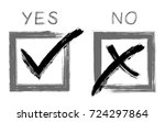 black brush approval icons in... | Shutterstock .eps vector #724297864