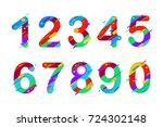 modern abstract colorful... | Shutterstock .eps vector #724302148
