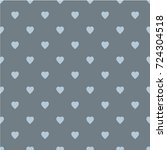 pattern with hearts. flat... | Shutterstock .eps vector #724304518