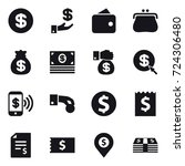 16 vector icon set   dollar ... | Shutterstock .eps vector #724306480