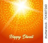 sunny rangoli. happy diwali ... | Shutterstock . vector #724307260