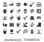 landscape design  icons ... | Shutterstock .eps vector #724308724