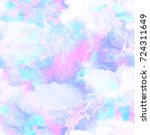 abstract foil marbled cloud... | Shutterstock . vector #724311649