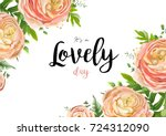 vector floral watercolor style... | Shutterstock .eps vector #724312090