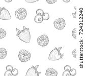 seamless pattern with berries.... | Shutterstock .eps vector #724312240