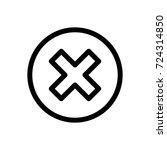 delete icon vector fat design... | Shutterstock .eps vector #724314850