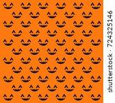 halloween seamless pattern.... | Shutterstock .eps vector #724325146